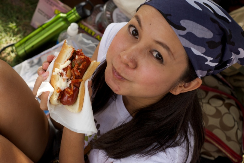 The Kimchi J-Dog is always a top choice at the stand.