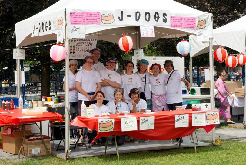 Several students and teachers volunteered at Matsuri Japon 2010.