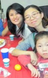 Eun Ji (right) with her daughter Esther at the CLC potluck last year.